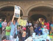 Amazigh protest in Vic. Ouafaa Aouattah