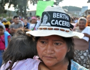 Demonstration in the memory of Berta Cáceres. STR epa Corbis.