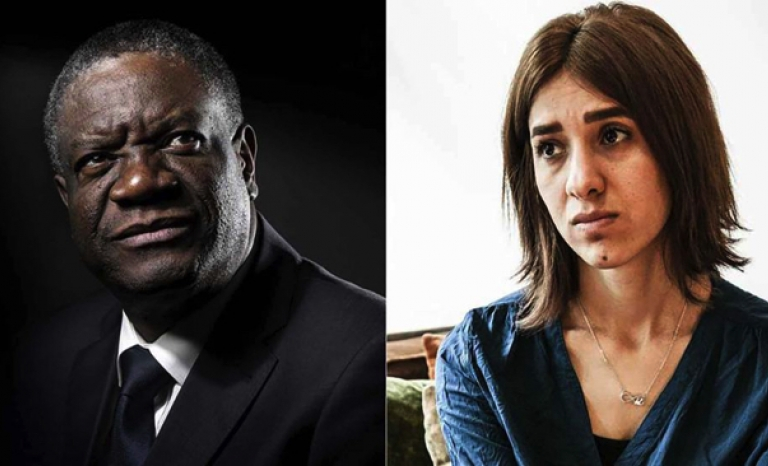 Denis Mukwege and Nadia Murad, Nobel Peace Prize 2018
