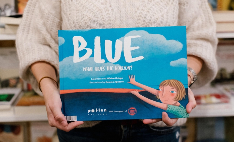 'Blue. What hides the horizon?' it's a book for kids and adults.