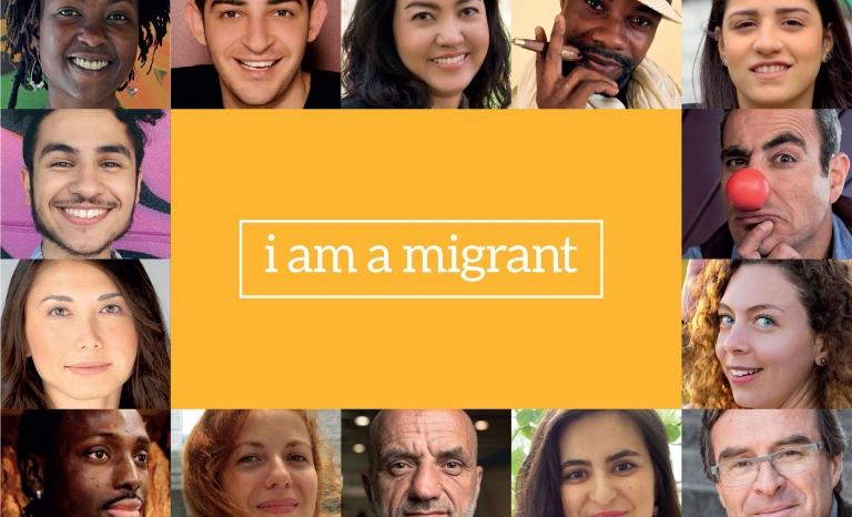 Front image of the i am a migrant platform's website