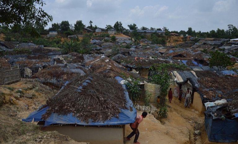 Rohingya village. Photo: European Comission DG, Flickr