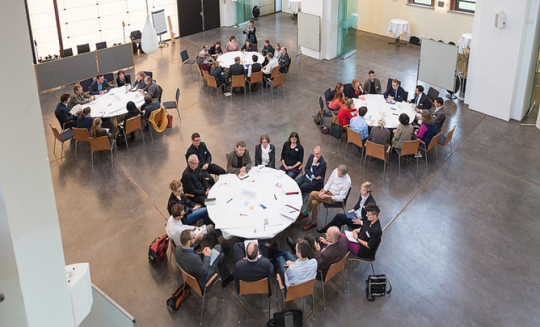 World café sessions at the RGI/BESTGRID-workshop 'Innovation through collaboration' / Photograph: RGI