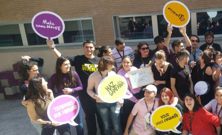 A group of people participating in the campaign