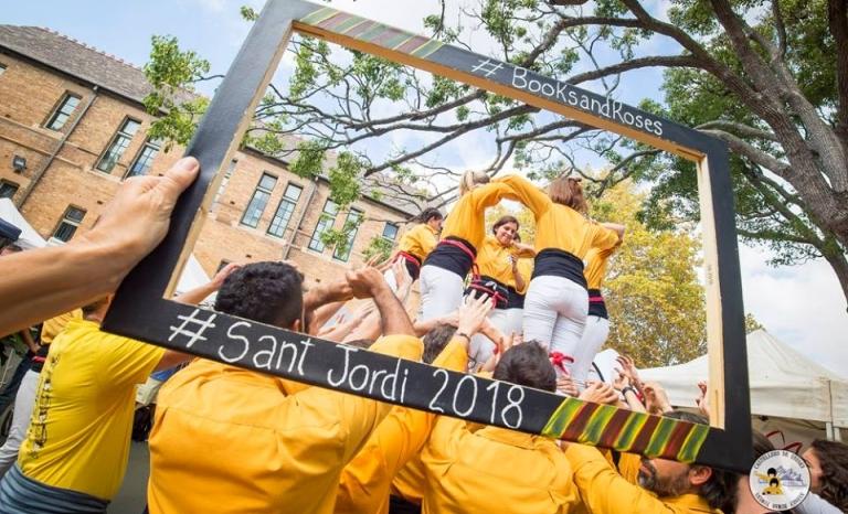 The Kangaroos celebrating Sant George day.    Source: Joel Mesas