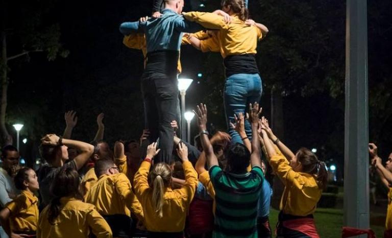 The Kangaroos practicing in the Hyde Park of Sydney.  Source: Joel Mesas