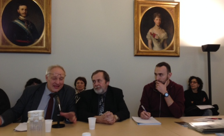 Representatives from the Ostrava delegation. Palau Moja. Photo: Marta Rius