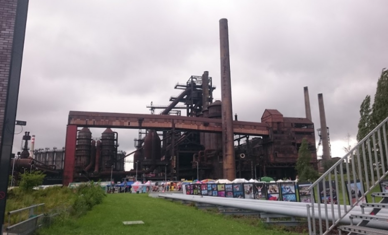 Ostrava's former Gas deposit where the Aplec Internacional will take place