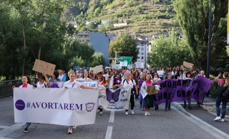One of the demonstrations of Stop Violències in Andorra.