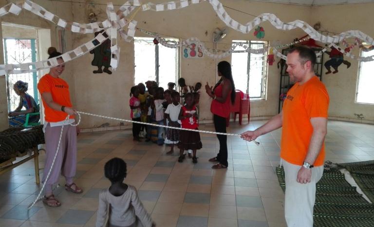 Activities in the Kédougou workcamp. Photo: YAA