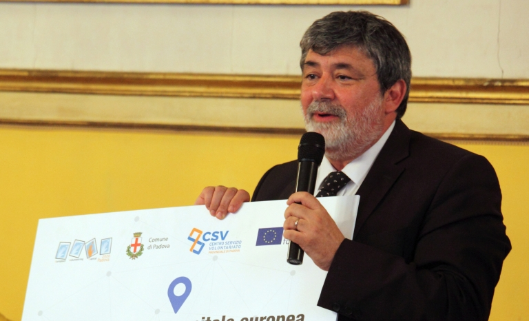 Emanuele Alecci, president of Padova European Volunteering Capital.