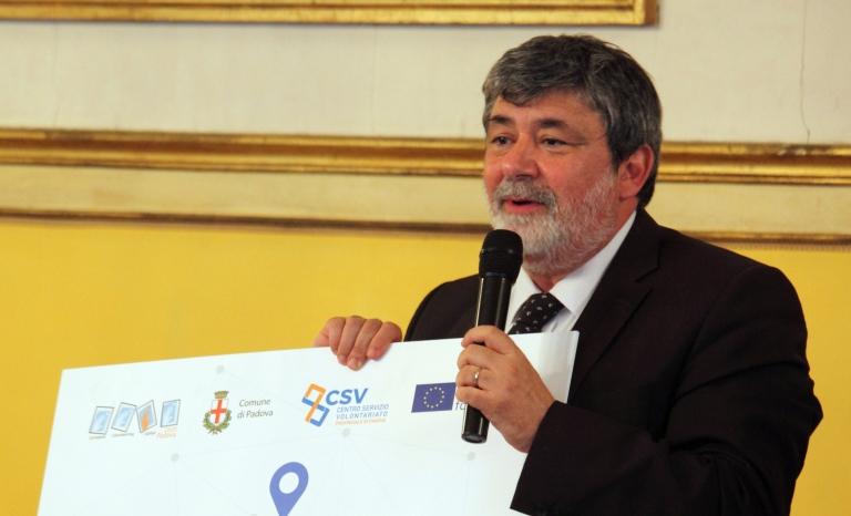 Emanuele Alecci, president of Padova European Volunteering Capital.