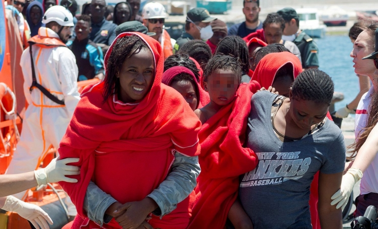Sub-Saharan migrants reached Gibraltar the past 4th of July
