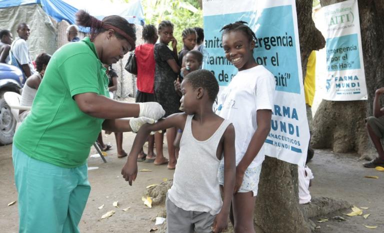 Health care service in Haiti.