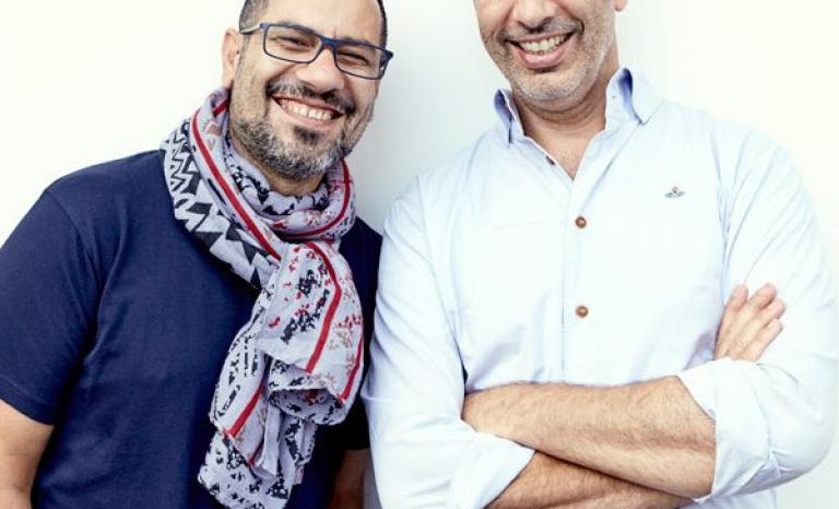 Yotam Ottolenghi and Sami Tamimi, chefs of Aubergine Fetteh. Photo: CookForSyria