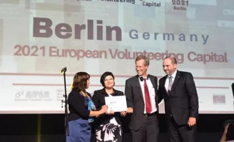 Berlin will host the European Volunteering Capital in 2021.
