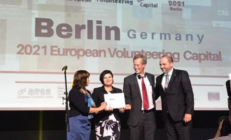 Berlin was announced as the European Volunteering Capital 2021.