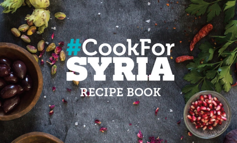 Book that can be bought to support the campaign. Image: CookForSyria