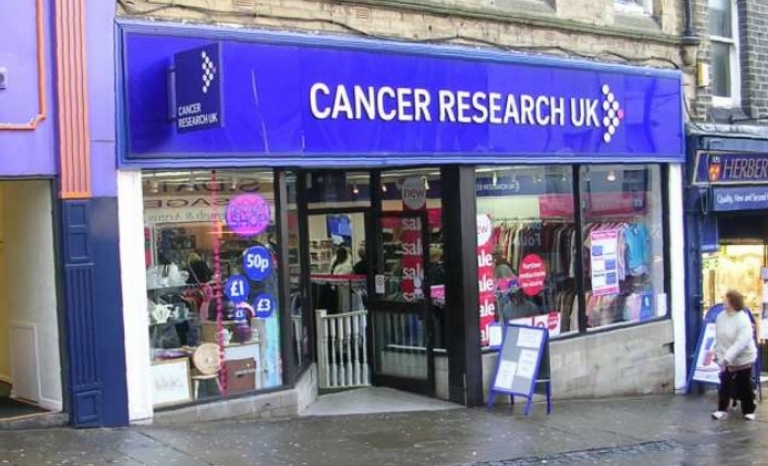 Cancer Research UK charity shop. Image: Wikipedia