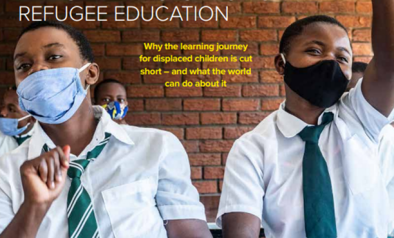UNHCR has launched an Education report that calculate the number of out-of-school refugee children and the situations faced by these children.