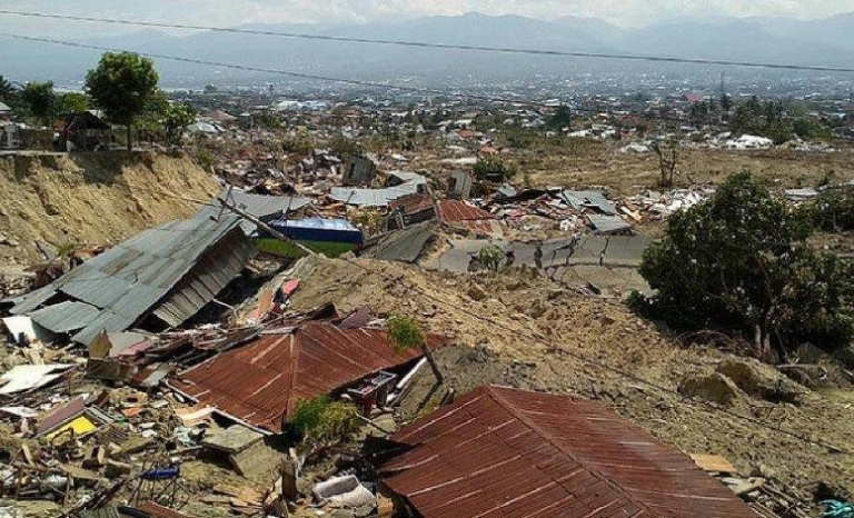 The affected area is in the Sonda Strait that separates the islands of Java and Sumatra.
