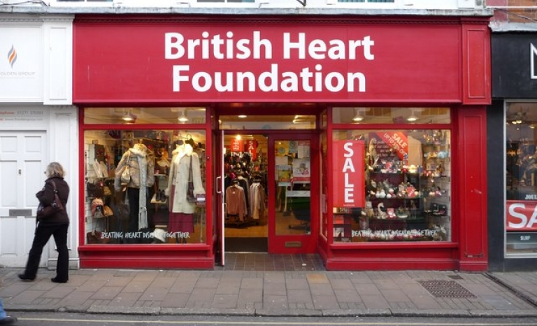 British Heart Foundation's charity shop / Photograph: www.geograph.org.uk