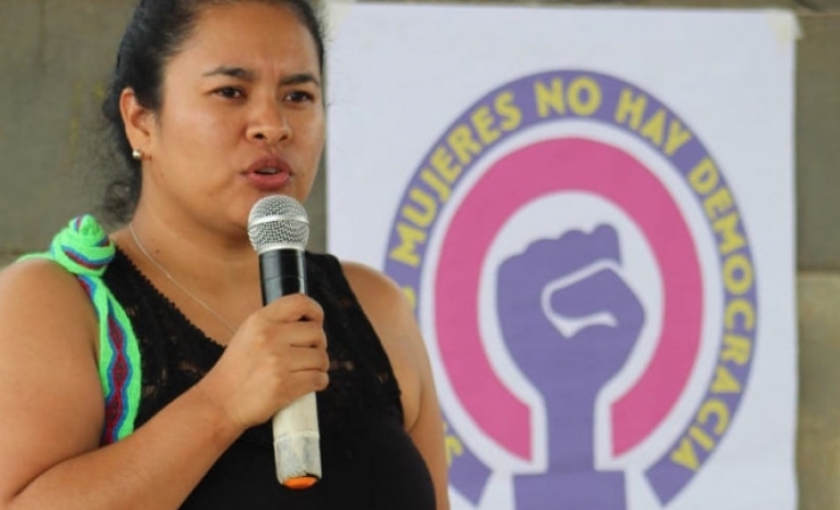 Clara Ávila is from the indigenous community of Nasa, in Cauca (Colombia).