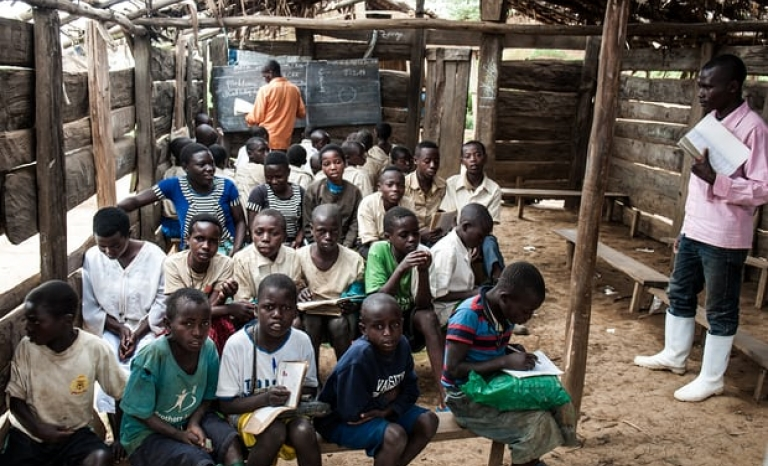 Teens in a refugee camp in Democratic Republic of Congo. The Guardian.