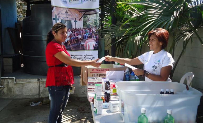 Medical consultation in El Salvador.