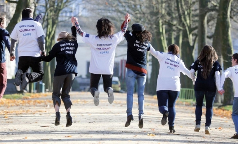 Most of international volunteering come mostly from Europe and the United States