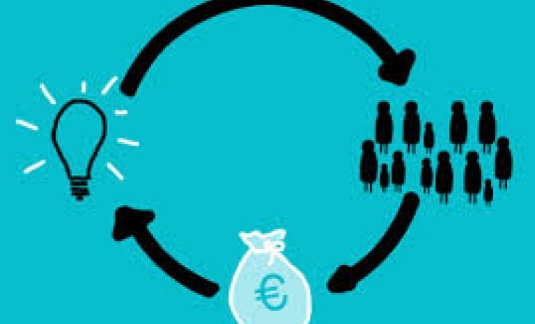 Fundraising computer graphic. Image: Rocio Lara, Flickr