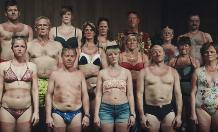 Danish people participating in the campaign. Image: Youtube