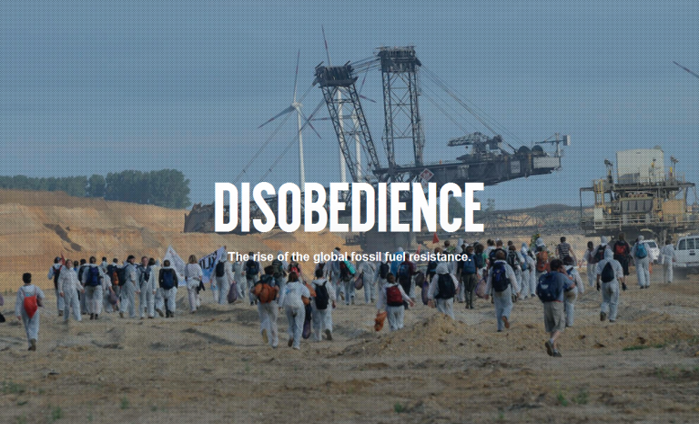 """The documentary """"Disobedience"""" will be projected in the ESDW / Photograph: Capture of watchdisobedience.com"""