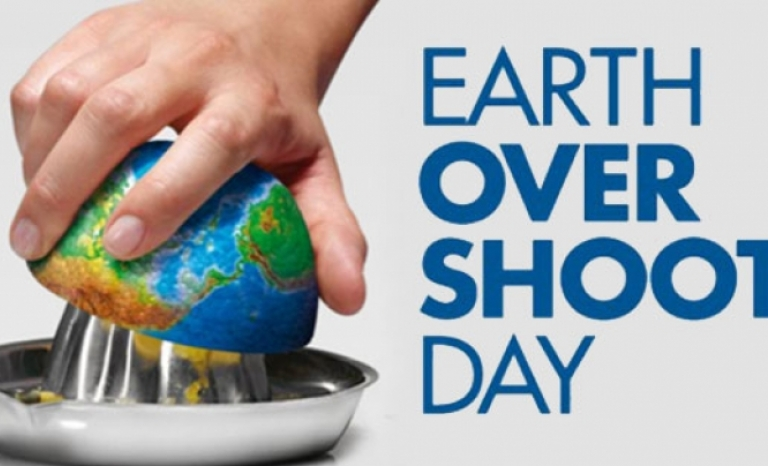 Earth Overshoot Day poster