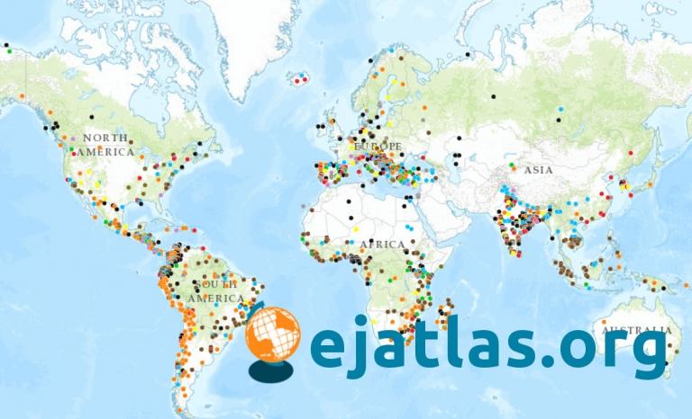 Conflicts map. Image: EJAtlas