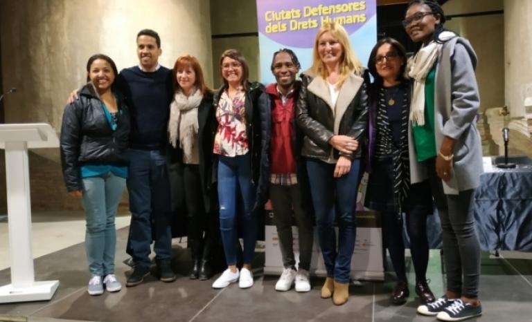 Six international human rights activists visit eleven catalan municipalities