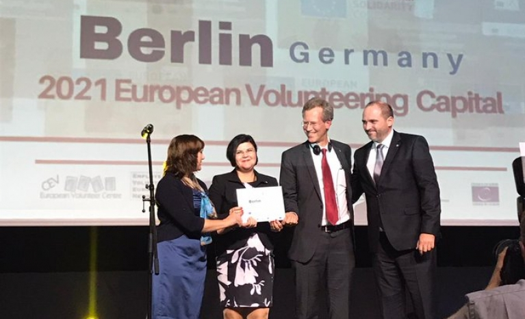 Berlin will host the European Volunteering Capital in 2021.