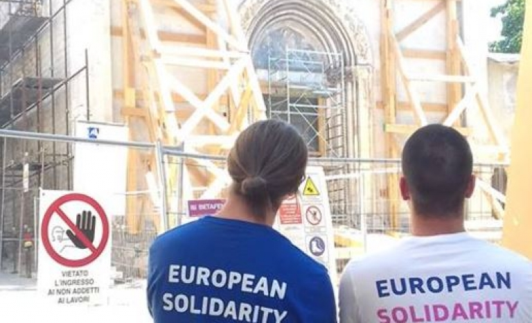 European Solidarity Corps participants.