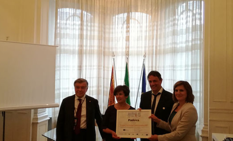 On 5 December 2018, Padova was announced as a European Volunteering Capital 2020.  Source:CEV