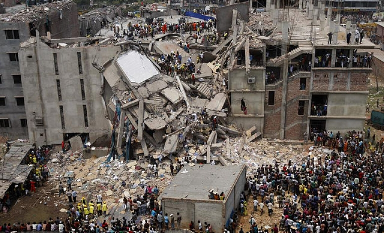The Rana Plaza factory collapsed in April 2013. 1,138 workers were killed / Photograph: Wikipedia