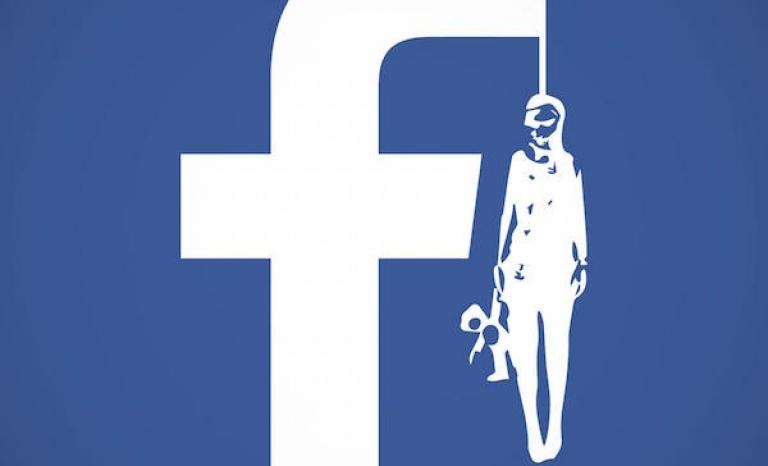 Redesign of Facebook's Logo. Photo: UNICEF