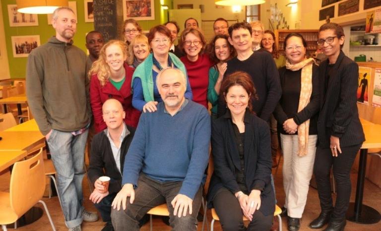 Fern staff and Board in the Fern Brussels office Mundo B / Photograph: Fern