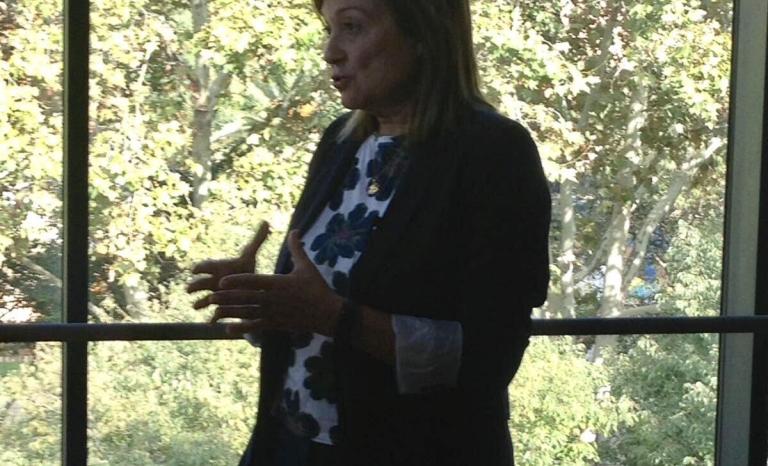 Marta Cid, spokesperson of ECAS