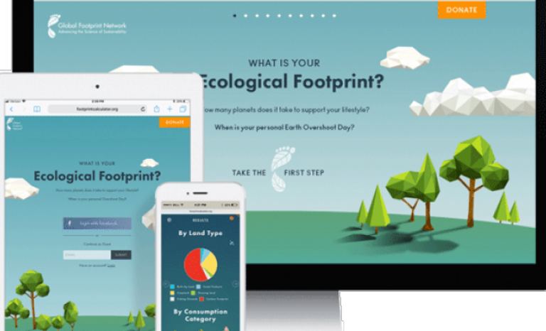 A calculator let us know which is our environmental footprint