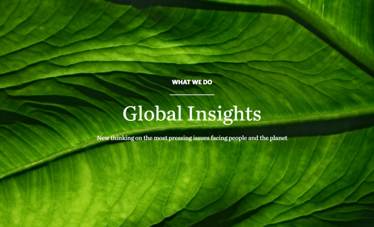The NGO considers that there is still time to achieve a sustainable future for the world.   Source: The Nature Conservancy