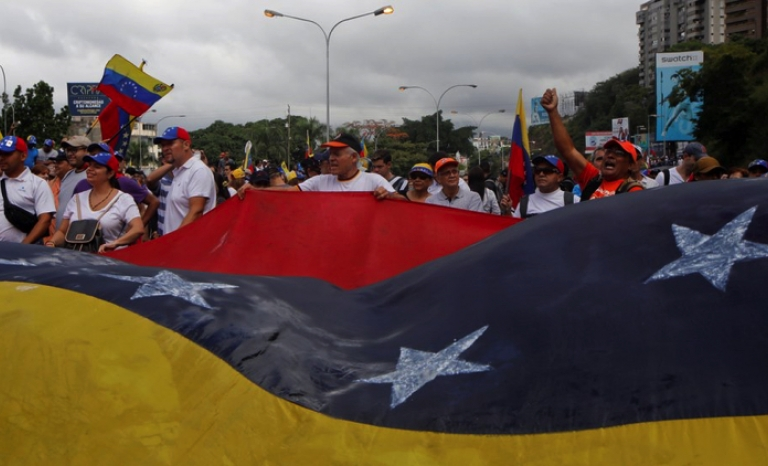 Thousands of people expressed themselves on January 23 against the government of Maduro.