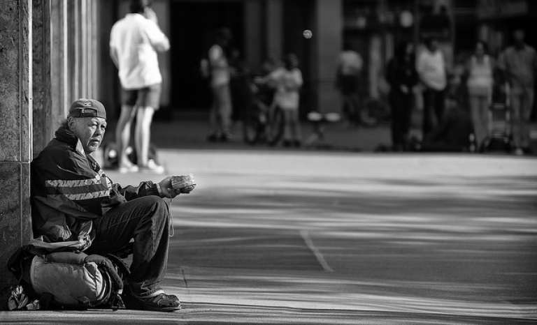 Homeless person. Photo: Flickr