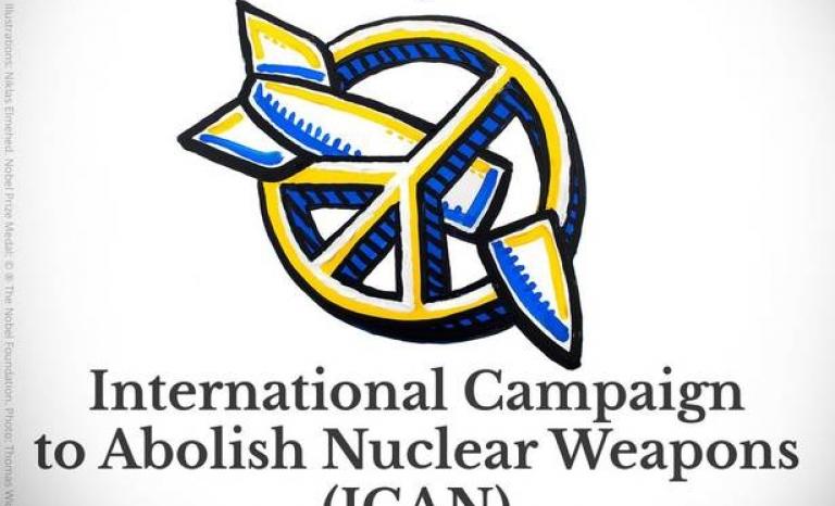 ICAN Campaign Logo. Photo: Nobel Prize