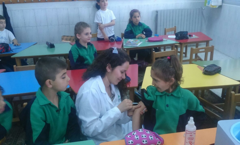 BEYOND Association provides the Routine Vaccination to 114,000 Syrian children under 5 years old / Photograph: BEYOND Association