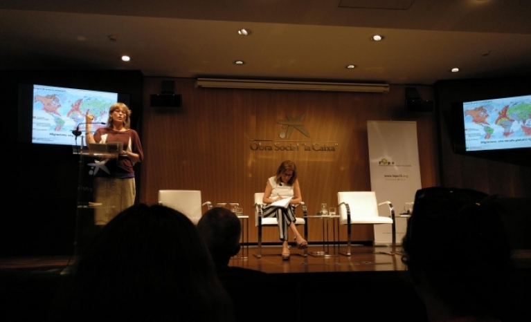 """Gemma Pinyol explains that """"the right to seek asylum and maritime rescue are being violated"""""""